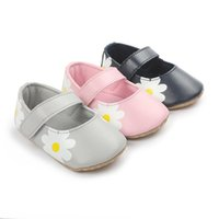 First Walkers Cute Flower Shallow Princess Shoes Soft Sole Infant Girls Baby Crib Toddler Booties
