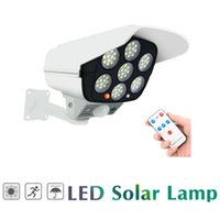 Solar Lamps Remote Motion Sensor Lamp Dummy Powered Camera High Simulation Fake Flashing Led Red Light Home Security Mon