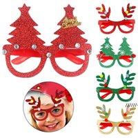 NewChristmas Decorazione occhiali Bambini Regali di Natale Forniture per vacanze Forniture Led Party Glasses Creativo Popolare RRA7498