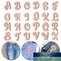A-z полотенце вышивка патчи розовый английский алфавит 3d belection patch для одежды утюг на патчи diy name наклейка для сумки платья