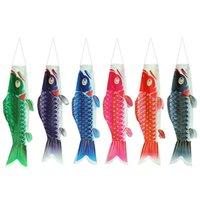 الكائنات الزخرفية التماثيل النمط الياباني الكرتون الأسماك جورب العلم اللون windsock الكارب koinobori هدية الرياح غاسل تأثيري حزب ديكور