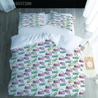 寝具セットファッション3Dデジタルプリントセット漫画高級バッグ布団カバーピローケース掛け布団ベッドカバー寝具