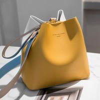 2021 Moda Kadın Çantası Yaz Kova Çanta Kadın PU Deri Omuz Çantaları Marka Tasarımcısı Bayanlar Crossbody Messenger Çanta Tote Kesesi