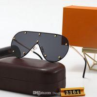 Novos óculos de sol de edição limitado para homens mulheres luxo 2304 metal designer vintage óculos de sol estilo quadrado quadrado sem moldura uv 400 lente caixa original e caso
