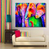 Fai da te pittura immagini di numeri animale elefante pittura immagine colorazione da numeri incorniciata casa per adulto per l'arredamento dell'hoomo