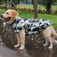 Куртка породы Большой собачье пальто водонепроницаемая отражающая теплая зимняя флисовая одежда для домашних животных для больших собак Лабрадор общий чихуахуа мопс