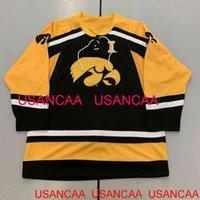 Jersey de hockey de Hockey Iowa Hawkeyes Hawkeyes Ajouter une taille de nom Nom Taille XS-5XL 6XL