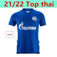 2021 2022 Schalke 04 Jerseys de fútbol Inicio Serdar Ozan Harit Raman Bentaleb Mc Kennie Football Shirts Kutucu