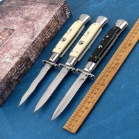 9 inch black EDC Italian style guardian sacred folding knife automatic knife 440C stainless steel camping knife