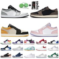 Nike Air Jordan 1 1s Jordan Retro 1 Off White 2021 ترافيس 1S jumpman 1 صفر أزرق باريس المحكمة الأرجواني سبج المدربين الرياضية أحذية رياضي