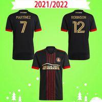 Fans Version 2021 New Atlanta United Fussball Jerseys Home rot schwarz # 7 Martinez # 12 Robinson Football Shirts Top Qualität