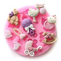 Bakeware Bolo Molde Silicone Bolo De Decoração Ferramentas de Açúcar Soap Candle Molds Moldes de Bebê Fondant Molde de Chocolate