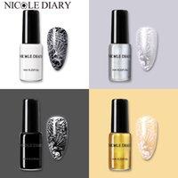 Nagellack Nicole Diary 6/5/4 / 2 stücke Stamping Set Schwarz Weißgold Silber Grundfarben Stempellacke DIY Drucklack