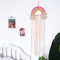 Macrame Rainbow Wall Hanging Decor Long Tassel Nursery Baby Room Decoration Nordic Boho Bedroom Art