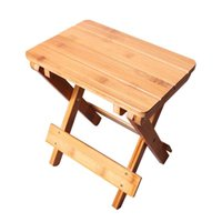 Camp Furniture Portable Camping Folding Stool Solid Wooden Stable Chair Bench Table Equipment For Garden Outdoor