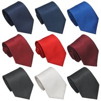 Solid Ties for Men Formal Dress Fashion Polyester Necktie Business Male Tie for Mens Shirt Accessories
