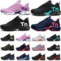 2018 새로운 TN Plus Te Mens 러닝 신발 Tn 남성 팩 트리플 실행 남성 신발 팩 트리플 블랙 남성 신발 크기 36-46 T5-B3