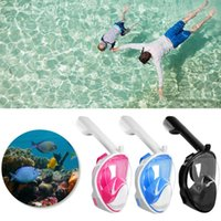 Face Face Snorkeling Face Mask Máscara Respirador À Prova D 'Água Anti-Fog Goggles Para Crianças Adult Piscina Acessórios