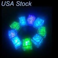 Altro LED Illuminazione Leggero Ice Cube-Active-Attive Flash Light Metti in Acqua Drink per le barre di nozze di festa Forniture di Natale USA