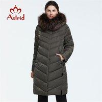 Astrid Kış Gelişi Aşağı Ceket Kadınlar Bir Kürk Yaka Gevşek Giyim Giyim Kaliteli Kadın Kış Coat FR-2160 210901