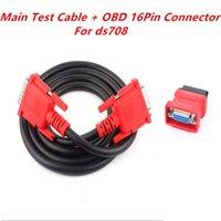 Melhor Qualidade OBD 2 Cabo Diagnóstico e Conector Cabo de Teste Principal + OBD 16Pin Adaptador Conector OBD2 16 PIN para Maxidas DS708
