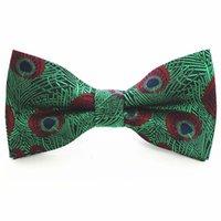 العلاقات القوس gusleson الأزياء الحرير الطاووس التعادل الأحمر الأزرق الأخضر bowknot للرجال الأعمال الزفاف الأعمال الرسمية الترفيه هدية bowtie