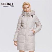 Miegofce Kış Kadın Orta Uzunlukta Ceket Kapşonlu Tasarım Sıcak Ve Rüzgar Geçirmez Parka Fermuar Gevşek Bayanlar Ceketler D21647 211015