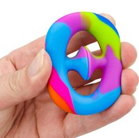 Anti Stress Finger Silicone Hand Grip Reliever Fidget Toy Adult Child Simple Dimple Toys Decompression Dropshipping DHL Free