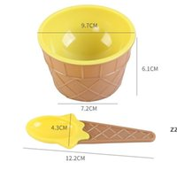 Barn Glass Skålar Ice Cream Cup Par Skål Gåvor Dessert Container Hållare Med Sked Bästa Barn Presentförsörjning Hwe9363
