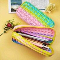 Arrive Silicone Pouch Push Popp It Simple Bubbles Wave Stationary Bag Popper Sensory Poppet Pencil in Case Toys Fidget Poppit