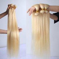 Человеческие волосы для волос Wigirl 613 Цвет 8 до 28 30 40 дюймов Прямой 1 3 4 Пучки Длинные Блондинка Удлинения Бразильское Плетение