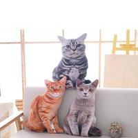 Coussin / oreiller décoratif LREA 50CM 3D LE SIMULER CAT Coussin CAT Coussin Canapé / Siège / Lit / Voiture / Coque de décoration de la maison