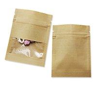 Kraftpapierbeutel mit klarem Fenster Lebensmittelaufbewahrungstasche wiederverschließbare Beutel Beutel Geruchssicher Probe Sachen Tee Kaffee Packung 91 S2