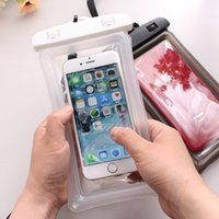 Прозрачный водонепроницаемый сухой чехол PVC защитный мобильный телефон сумка плавание сенсорный экран плавающие на воздухе мешки мобильных телефонов для дайвинга HH264OVL