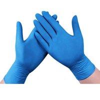 Синие одноразовые перчатки 100 шт. ПВХ не стерильные порошок Бесплатные латексные чистящие средства Кухня и питание Safe - Ambidextrous