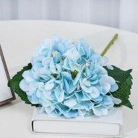 47см искусственный гортензия цветок головы шелковый цветок гортензии 17 цветов для свадебных целевых компаний Главная партия декоративные цветы BWA3930