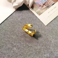 크리 에이 티브 틈새 디자인 오시브 볼록한 불규칙한 주름 꽃 색인 손가락 반지 Chaoren Street Pat