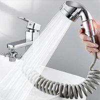 샤워 헤드 수도꼭지와 주방 수도꼭지 다이 버터 밸브 워터 전환에 대 한 세트 홈 욕실 주방 다이버 210309