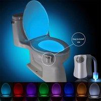 Brelong-Toilette Nachtlicht LED-Lampe Smartbad Menschliche Bewegung aktiviert Pir 8 Farben Automatische RGB-Hintergrundbeleuchtung für WC-Schüssel-Lichter