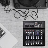 Professional Audio Mixer Digital 8-Channel Mixing Console 16 DSP Stereo Amplifier Sound Board with Optical Foot SW