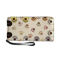 Wallets FORUDESIGNS 3D Lovely Cat Claw Printed Luxury Woman Zipper Long Wallet Cash Waterproof Pu Leather Female Card Holder Coin Cases