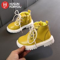 2021 New Children Snow Boots Warm Non-slip Shoes For Boys Girls Ace-Up Martin Comfort Baby Rubber Fashion Sneakers 94