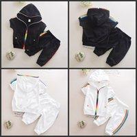 Yeni Erkek Kıyafetler 6 M-4 T Kız Giysileri Çocuk Giyim Suits Fermuar Üst Pamuk Pantolon Suits 2 adet Giyim Setleri Çocuk Giysileri 467 Y2