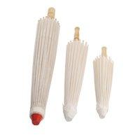 Guarda-chuva de papel de bambu branco guarda-chuva oleado guarda-chuva diy criativo pintura em branco guarda-chuva noiva casamento parasol 182 s2