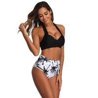 Tyburn Nouvelle taille haute Maillot de bain à taille haute 2020 Bikinis Femmes Bandage Top Push Up Maillots de bain Maillots De Baignade Cuisson Beach Wear Biquini