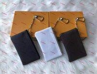 동전 지갑 최고 품질의 키 지갑 M62650 Pochette Cles 디자이너 패션 Womens 망 열쇠 고리 신용 카드 홀더 코인트 럭셔리 미니 지갑 가방 상자