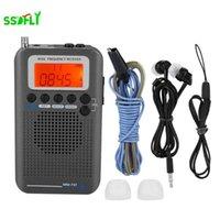 Uçak Fullband VHF Radyo Taşınabilir FM AM SW Radyo VHF CB 30-223 MHz 25-28 MHz Hava 118-138 MHz ile Çift Çalar Saat