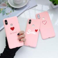 PRINT PINK TPU Heart Case pour Xiaomi Redmi Note 7 8 6 5 Plus Couverture K20 Pro 4A 4x 8T pour Redmi S2 Y3 5A 6A 7A Y2 Capa Funda Etui