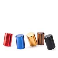 Tragbares Glas Tee Blechdose Titan Aluminiumlegierung Kleine Zylinder DEALED DOKEN 45 * 70mm Kaffee Tee Zinn Mini Container Aufbewahrungsboxen ZZC5074