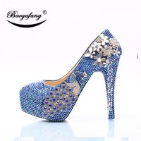 Dress Shoes 2021 Womens Wedding Baolan AB Diamond Phoenix Crystal Shoe Bride Bridesmaid's